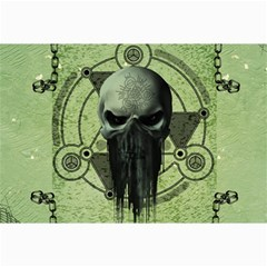 Awesome Green Skull Collage 12  X 18
