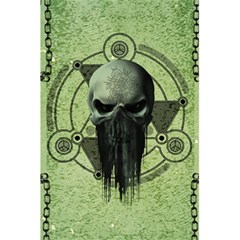 Awesome Green Skull 5 5  X 8 5  Notebooks
