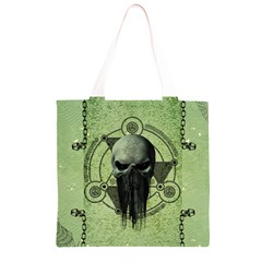 Awesome Green Skull Grocery Light Tote Bag