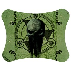 Awesome Green Skull Jigsaw Puzzle Photo Stand (Bow)