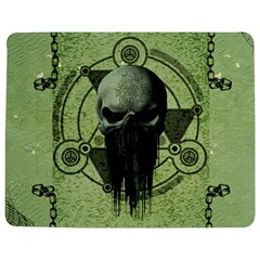 Awesome Green Skull Jigsaw Puzzle Photo Stand (Rectangular)