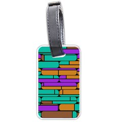 Round Corner Shapes In Retro Colors            luggage Tag (one Side)
