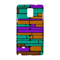 Round Corner Shapes In Retro Colors            samsung Galaxy Note 4 Hardshell Case