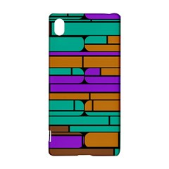 Round corner shapes in retro colors            			Sony Xperia Z3+ Hardshell Case