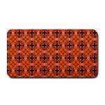Peach Purple Abstract Moroccan Lattice Quilt Medium Bar Mats 16 x8.5 Bar Mat - 1
