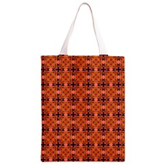 Peach Purple Abstract Moroccan Lattice Quilt Classic Light Tote Bag