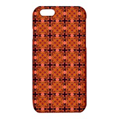 Peach Purple Abstract Moroccan Lattice Quilt iPhone 6/6S TPU Case