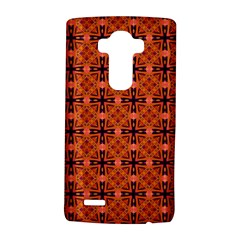 Peach Purple Abstract Moroccan Lattice Quilt LG G4 Hardshell Case