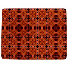 Peach Purple Abstract Moroccan Lattice Quilt Jigsaw Puzzle Photo Stand (Rectangular)