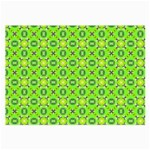 Vibrant Abstract Tropical Lime Foliage Lattice Large Glasses Cloth Front