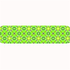 Vibrant Abstract Tropical Lime Foliage Lattice Large Bar Mats