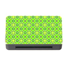 Vibrant Abstract Tropical Lime Foliage Lattice Memory Card Reader With Cf