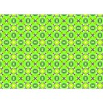 Vibrant Abstract Tropical Lime Foliage Lattice You Rock 3D Greeting Card (7x5)  Back