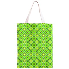 Vibrant Abstract Tropical Lime Foliage Lattice Classic Light Tote Bag