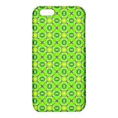 Vibrant Abstract Tropical Lime Foliage Lattice iPhone 6/6S TPU Case