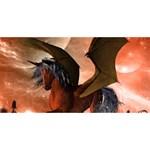 Wonderful Dark Unicorn In The Night Congrats Graduate 3D Greeting Card (8x4)  Back