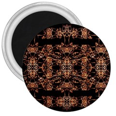 Dark Ornate Abstract  Pattern 3  Magnets