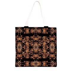Dark Ornate Abstract  Pattern Grocery Light Tote Bag