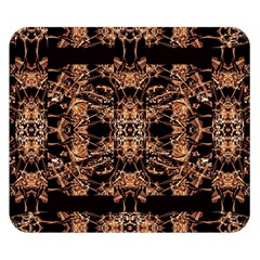 Dark Ornate Abstract  Pattern Double Sided Flano Blanket (small)