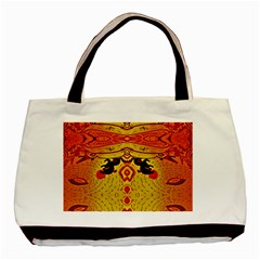 Green Sun Basic Tote Bag (two Sides)