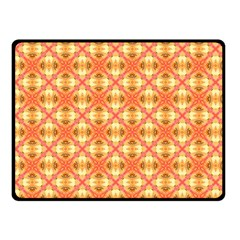 Peach Pineapple Abstract Circles Arches Fleece Blanket (small)