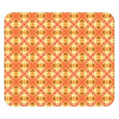 Peach Pineapple Abstract Circles Arches Double Sided Flano Blanket (small)