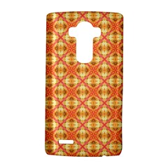 Peach Pineapple Abstract Circles Arches LG G4 Hardshell Case