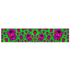 Fantasy Valentine In Floral Love And Peace Time Flano Scarf (Small)