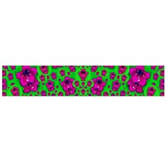 Fantasy Valentine In Floral Love And Peace Time Flano Scarf (large)