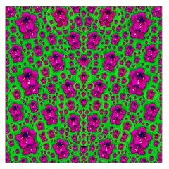 Fantasy Valentine In Floral Love And Peace Time Large Satin Scarf (Square)