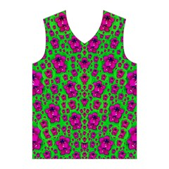 Fantasy Valentine In Floral Love And Peace Time Men s Basketball Tank Top