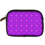 Abstract Dancing Diamonds Purple Violet Digital Camera Cases Front