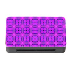 Abstract Dancing Diamonds Purple Violet Memory Card Reader With Cf