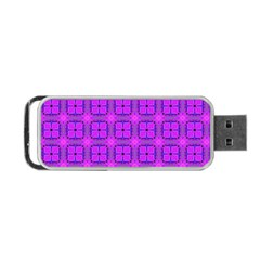 Abstract Dancing Diamonds Purple Violet Portable Usb Flash (two Sides)