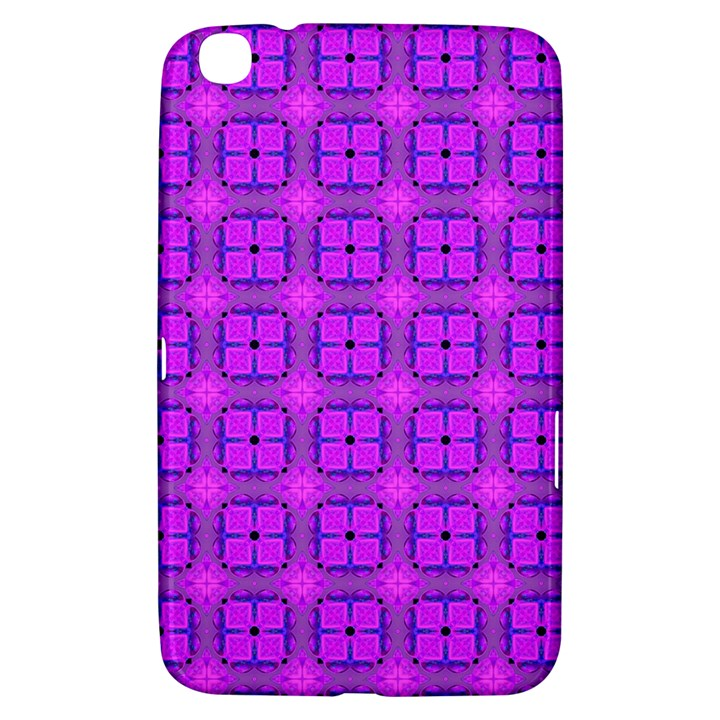 Abstract Dancing Diamonds Purple Violet Samsung Galaxy Tab 3 (8 ) T3100 Hardshell Case