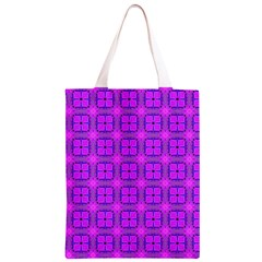 Abstract Dancing Diamonds Purple Violet Classic Light Tote Bag