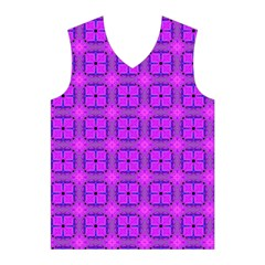Abstract Dancing Diamonds Purple Violet Men s Basketball Tank Top