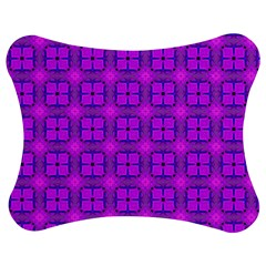 Abstract Dancing Diamonds Purple Violet Jigsaw Puzzle Photo Stand (Bow)
