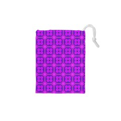 Abstract Dancing Diamonds Purple Violet Drawstring Pouches (xs)