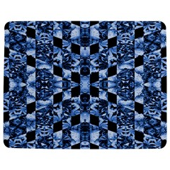 Indigo Check Ornate Print Jigsaw Puzzle Photo Stand (rectangular)