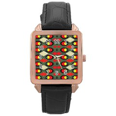 Black Star Rose Gold Leather Watch