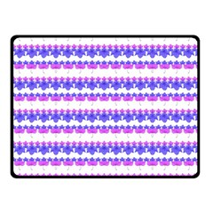 Floral Stripes Pattern Double Sided Fleece Blanket (small)