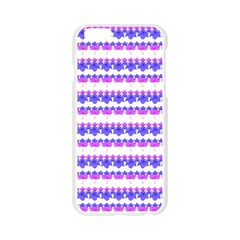 Floral Stripes Pattern Apple Seamless iPhone 6/6S Case (Transparent)