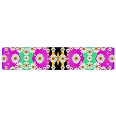 Flowers Above And Under The Peaceful Sky Flano Scarf (Small)