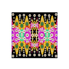 Flowers Above And Under The Peaceful Sky Satin Bandana Scarf