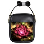 Red Peony Girls Sling Bags Front