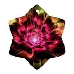 Red Peony Snowflake Ornament (2 Side)