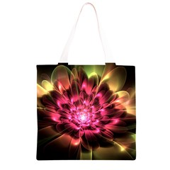 Red Peony Grocery Light Tote Bag