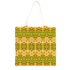 Boho Stylized Floral Stripes Grocery Light Tote Bag