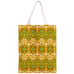 Boho Stylized Floral Stripes Classic Light Tote Bag